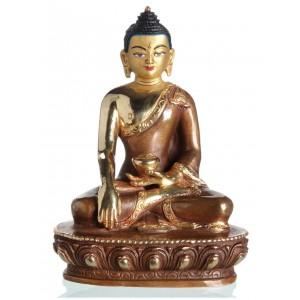 Akshobhya / Shakyamuni 14 cm teilfeuervergoldet Buddhastatue
