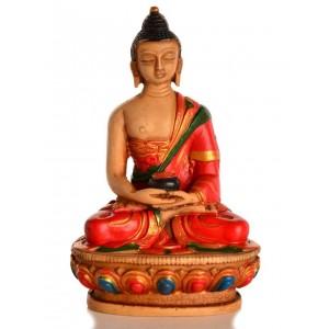 Amitabha Buddha Statue Resin 11,5 cm bemalt