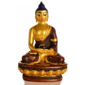 Amitabha Buddha Statue Resin 11,5 cm golden