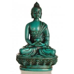 Amitabha Buddha Statue Resin türkis 11,5 cm