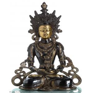 Amitayus - Aparimita 36  cm Buddha Statue dunkel