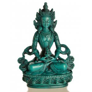 Amitayus - Aparimita 15,5 cm Buddha Statue Resin türkis