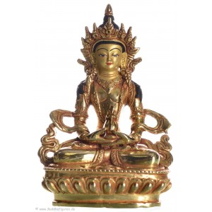 Amitayus - Aparimita 15 cm vollfeuervergoldet Buddha Statue