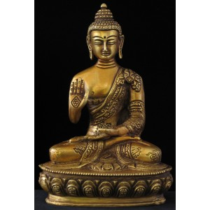 Amoghasiddhi 20 cm Buddha Statue Messing