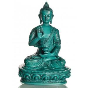 Amoghasiddhi  Buddha Statue 19 cm Resin türkis