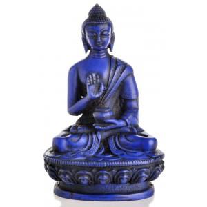 Amoghasiddhi Statue sitzende Position in der Vorderansicht