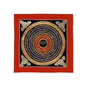 Thangka Mandala Buddha Augen 26 x 26 cm