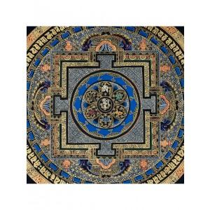 Thangka - Mandala OM 55 x 55 cm