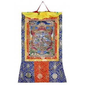 Thangka Wheel of Life Kunstdruck 63 x 105 cm
