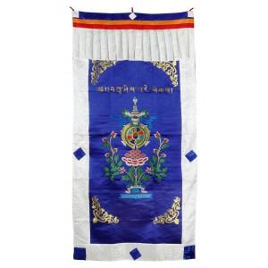 Türbehang Ashtamangala blau 94 x 180 cm