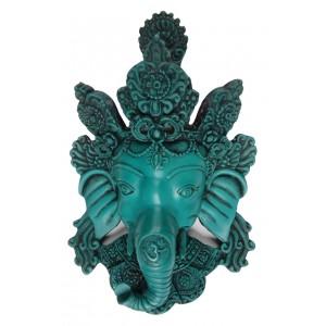Ganesha Maske türkis 21 cm