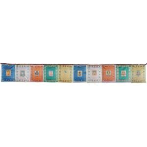 Gebetsfahnen aus China 10 Blatt 29 x 35 cm - 2,9 m
