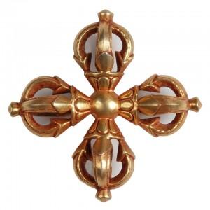 Vishvadorje - Vishvavajra vergoldet 6,2 cm