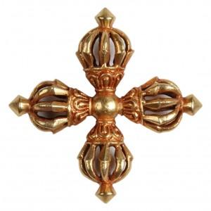 Nyingma Vishvavajra - Vishvadorje vergoldet 5,6 cm