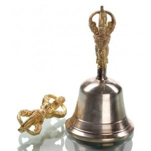 Ghanta-Set Glocke mit Dorje 15,5 cm