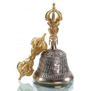 Nyingma Ghanta-Set  - Glocke mit Dorje 18 cm