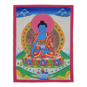 Thangka Medizinbuddha 34 x 44 cm