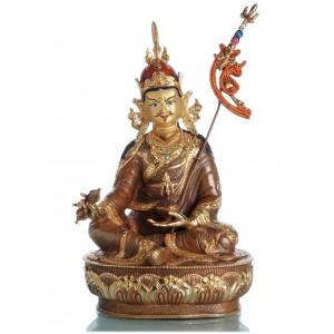 Padmasambhava - Guru Rimpoche 36 cm  teilfeuervergoldet