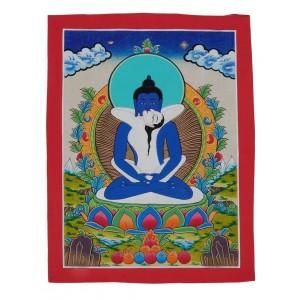Thangka - Samantabhadra and Samantabhadri 23 x 30 cm