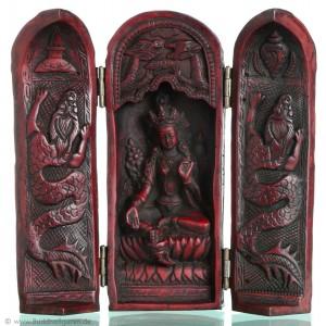 Buddha Schrein 20 cm Grüne Tara