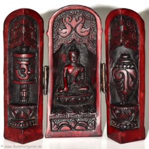 Buddha Schrein 12 cm - schmal