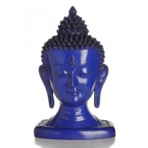 Buddha-Kopf 33 cm blau
