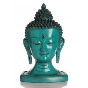 Buddha-Kopf 33 cm türkis