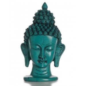 Buddha-Kopf  16 cm türkis SALE