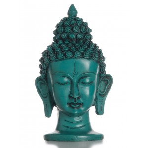 Buddha-Kopf  16 cm türkis