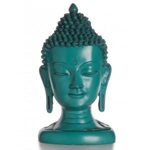 Buddha-Kopf  21 cm türkis