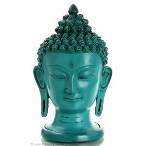 Buddhakopf  29,5 cm Resin türkis