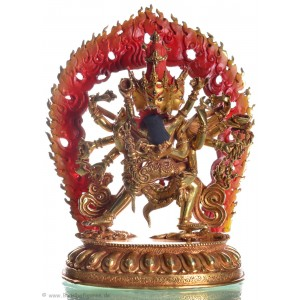 Chakrasamvara  22,5 cm feuervergoldet Buddha Statue