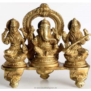 statue ganesh ganesha lakshmi saraswati