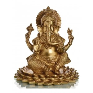 Ganesha auf Lotus 20,5 cm