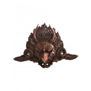 Garuda Maske Resin 19 cm braun