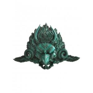 Garuda Maske Resin 19 cm türkis