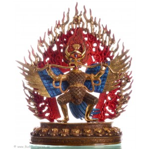 Garuda Statue  27 cm teilfeuervergoldet