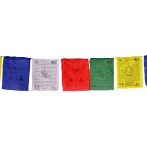 Gebetsfahnen (25 Blatt) 850 cm Kalachakra (33x42 cm) Premium Qualität