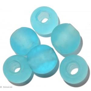 Glasperlen hellblau 14mm - 6 Perlen