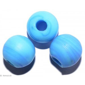 Glasperlen hellblau 16mm - 4 Perlen