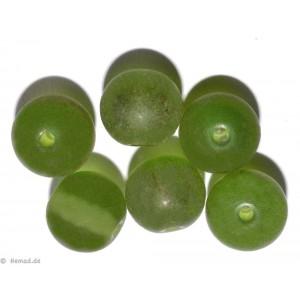 Glasperlen grün 7mm - 20 Perlen