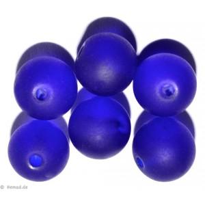 Glasperlen dunkelblau 8mm - 20 Perlen