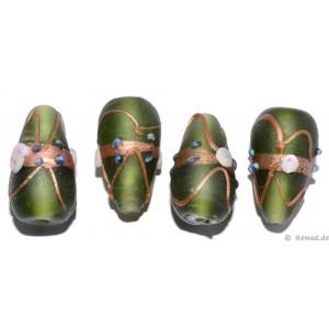 Glasperlen grün 24mm - 4 Perlen