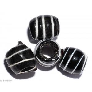 Glasperlen schwarz 9mm - 10 Perlen