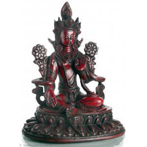 Grüne Tara Statue 25 cm Resin