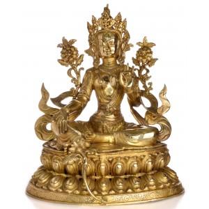 Grüne Tara  61 cm  Messing Statue