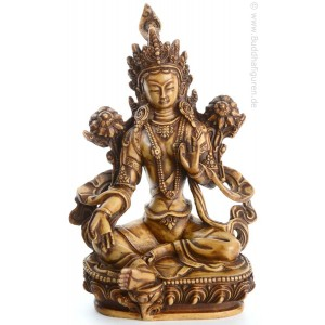 Grüne Tara Statue 20,5 cm Resin hell