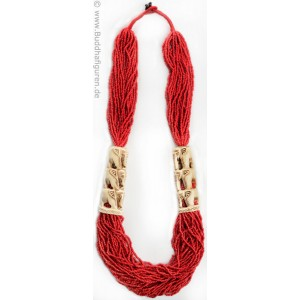 Halskette ethno schmuck mit perlen und elefanten