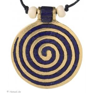Chakra-Kette mit  Endlos-Spirale blau