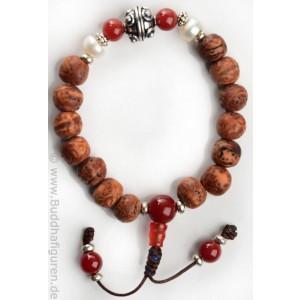 hand-mala boddiseeds karneol armband buddhistisch